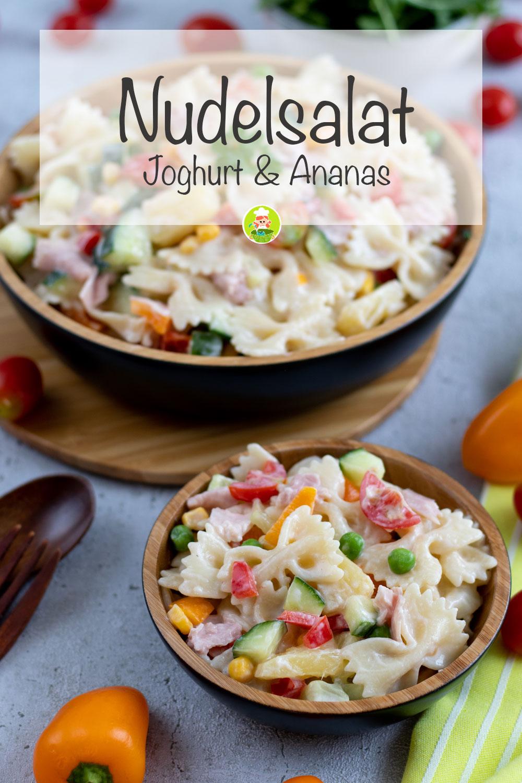 Nudelsalat mit Joghurt und Ananas, meinestube