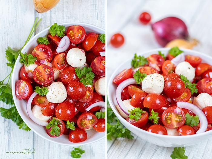 Tomaten mit Mozzarella und Petersilie, meinestube
