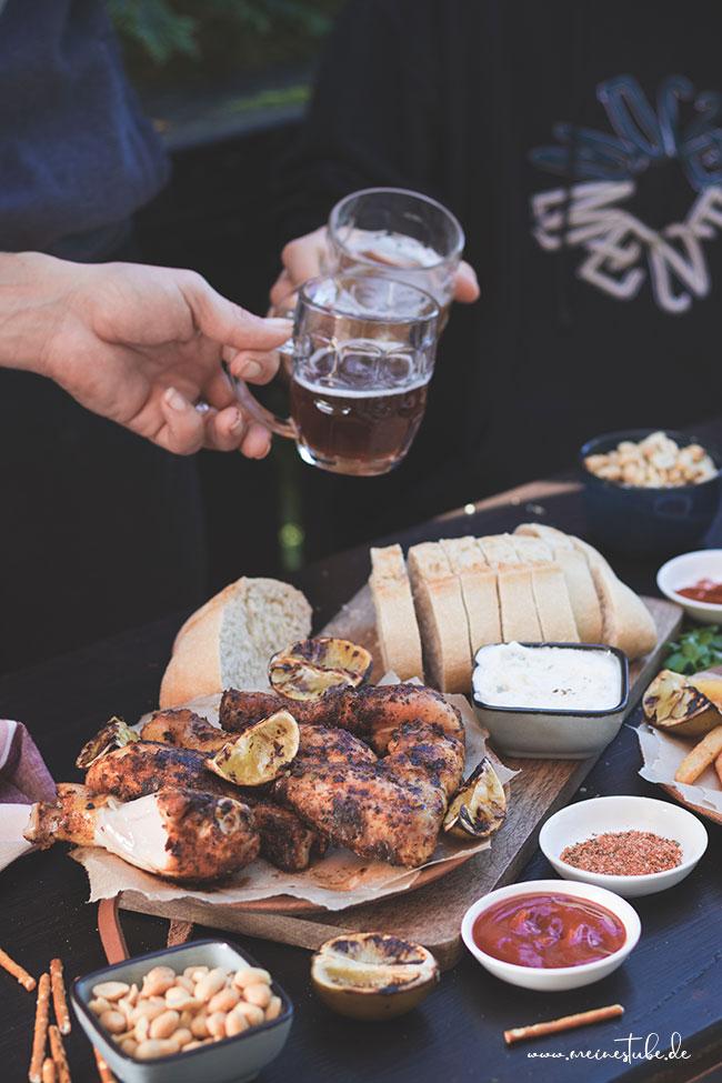Grillen in gemütlicher Runde mit Chicken Wings, meinestube