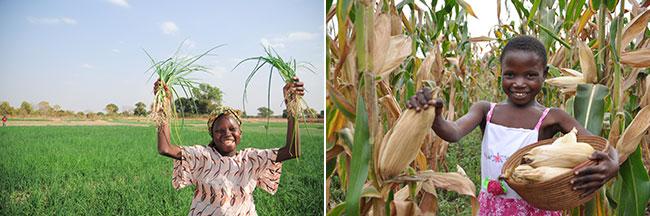 Mit World Vision die erste Ernte von Gemüse, meinestube