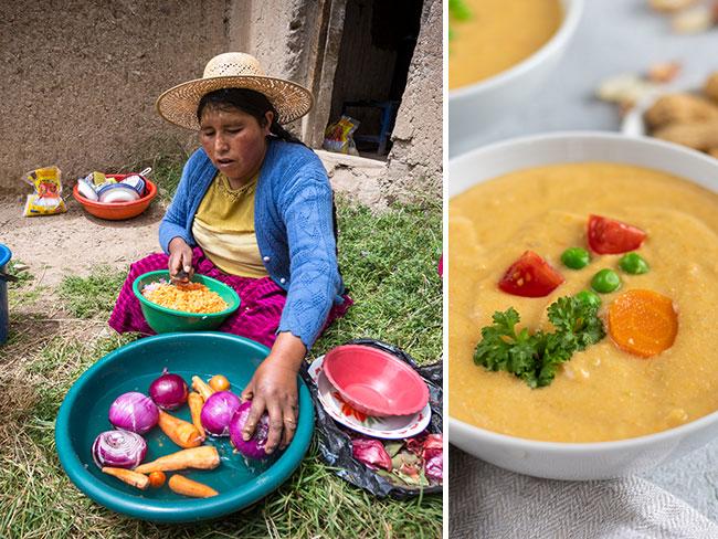 Bolivien Erdnusssuppe mit World Vision