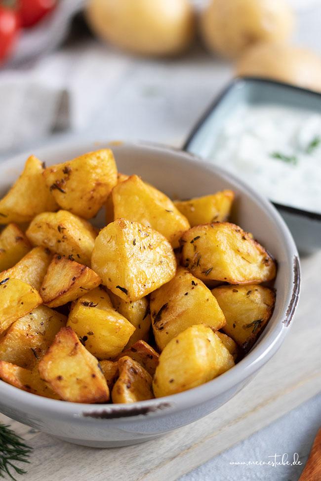 Kartoffeln im Ofen gebacken, meinestube