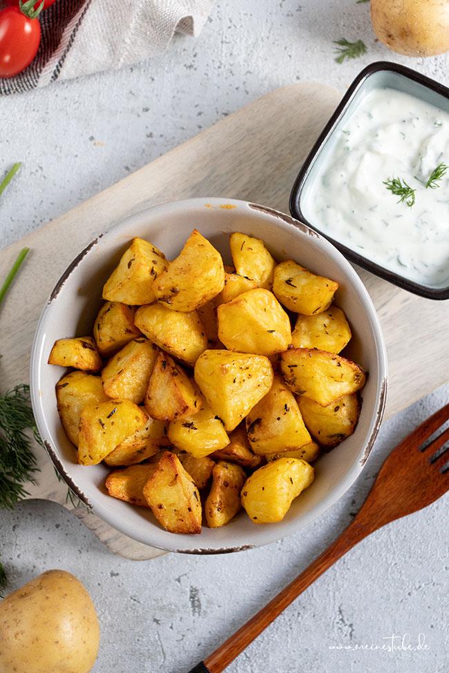 Ofenkartoffeln mit Dill-Dip, meinestube