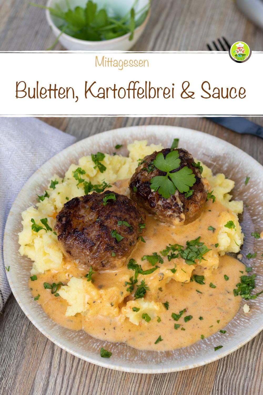Rezept für Frikadellen mit Kartoffelbrei und Sauce, meinestube