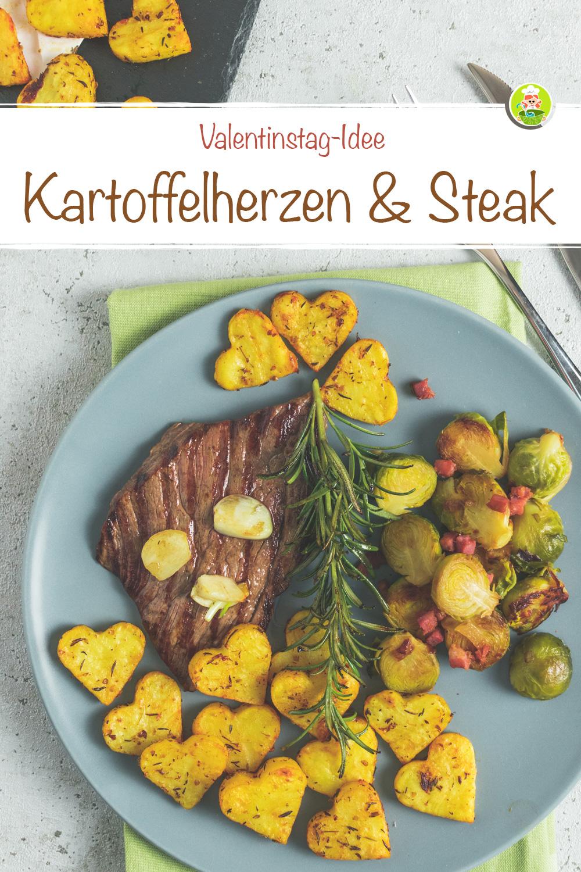 Kartoffelherzen Rezept-Idee Valentinstag