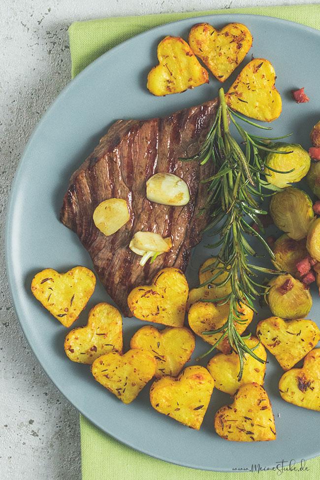 Ein Rezept zum Verlieben. Kartoffelherzen für Valentinstag, meinestube4
