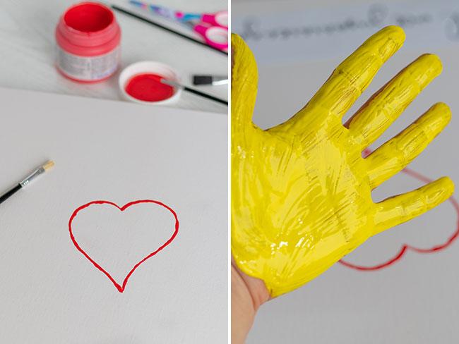 Herz auf eine Leinwand malen, meinestube