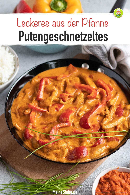 Putengeschnetzeltes mit Paprika aus der Pfanne, Meinestube