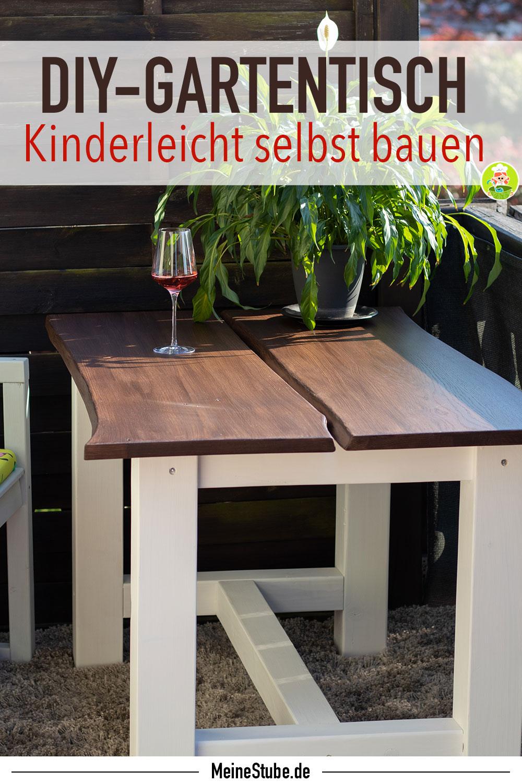 Gartentisch DIY selbst gebaut, meinestube