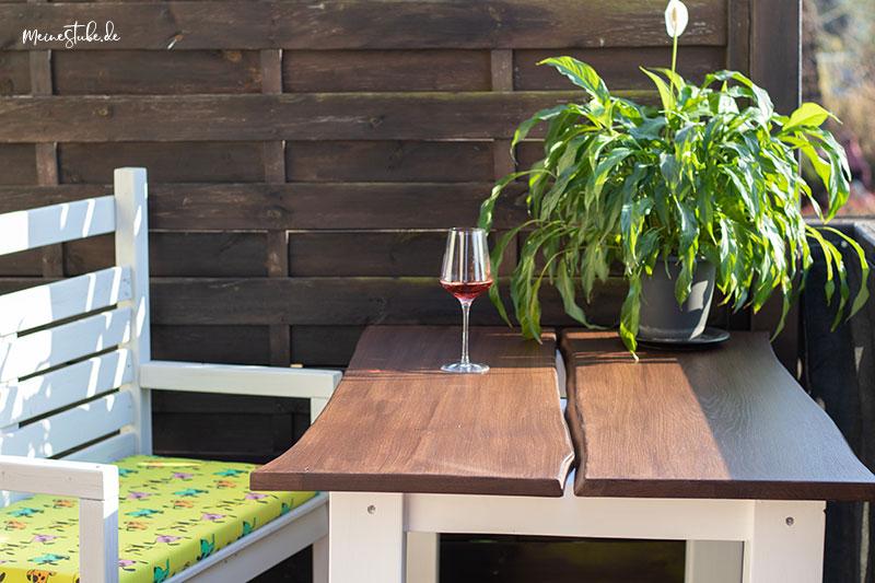 Gartentisch mit Remmers Eco Farben gestrichen mit meinestube