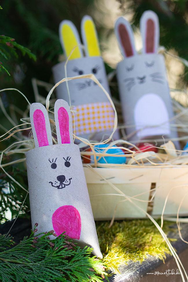 Gebastelte und bemalte Osterhasen Geschenkschachteln von meinestube