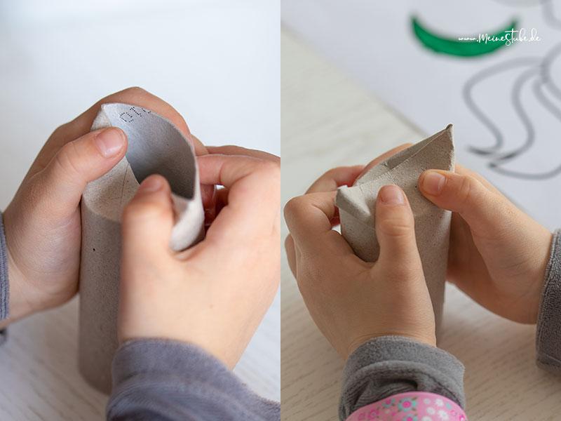 Anleitung wie man die Kanten der Klorolle richtig umknickt mit meinestube