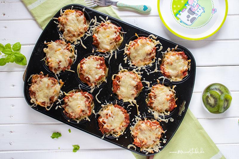 Spaghetti-Muffins im Muffinblech von meinestube