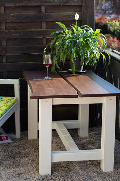 Einen Gartentisch bauen Anleitung