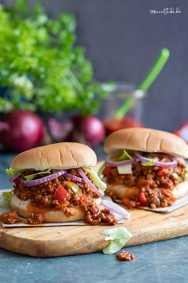 Hamburger mit toller amerikanischer Hackfleischsauce von meinestube