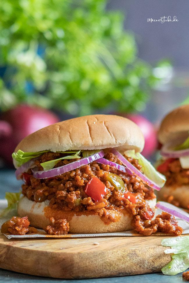 Sloppy Joe Burger mit Hackfleischsauce von meinestube
