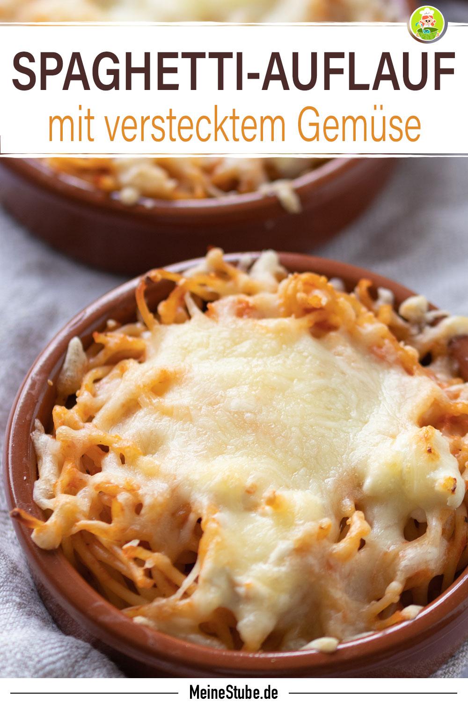 Spaghetti-Auflauf mit geriebenen Käse überbacken, von meinestube