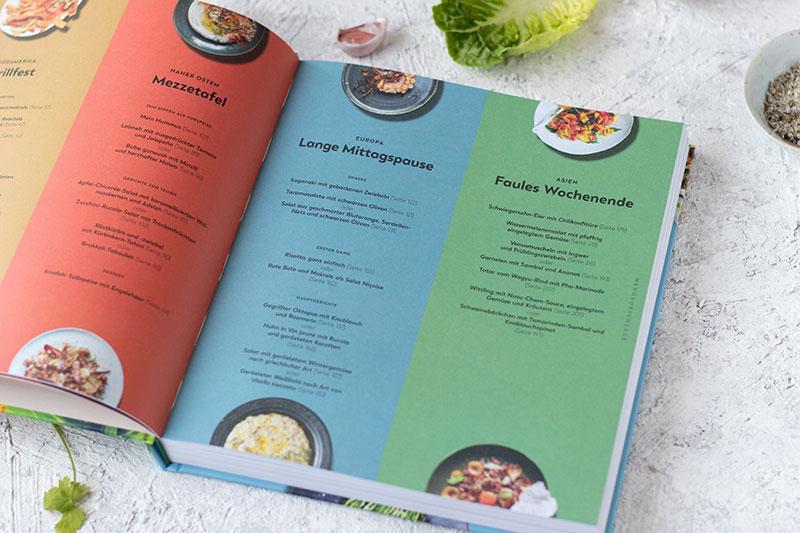 Menüvorschläge im Atlas Cookbook
