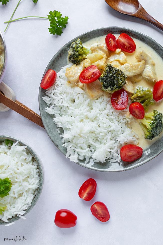 Hähnchenpfanne mit Brokkoli und Blumenkohl von einestube