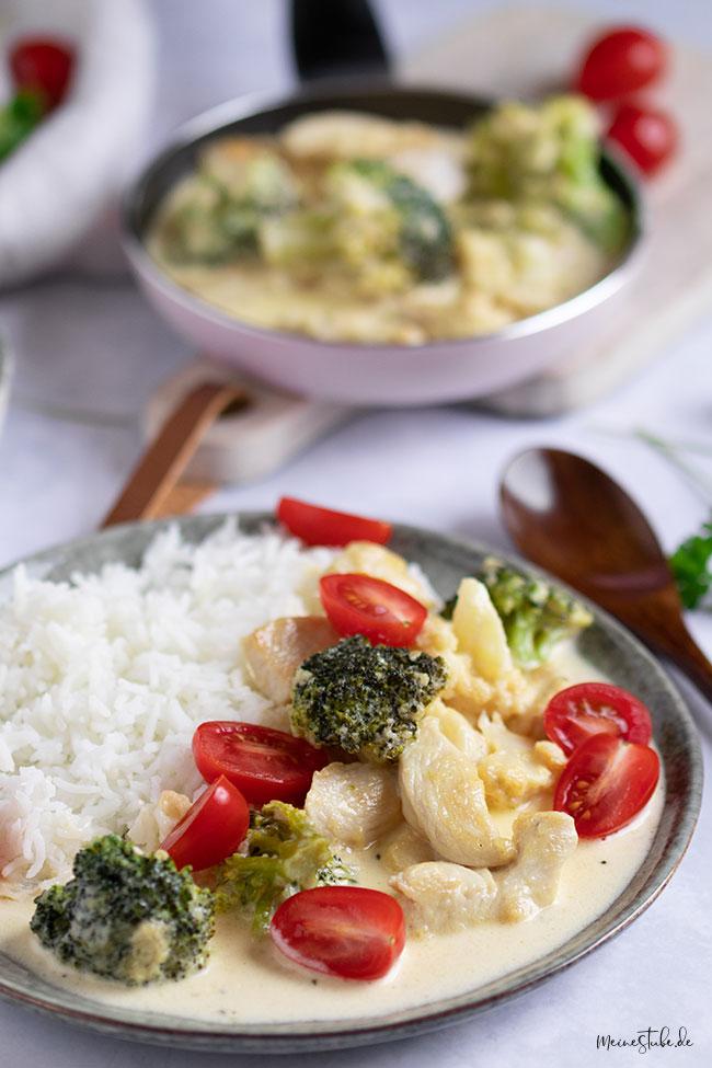 Gemüse mit Reis und Hähnchen von meinestube