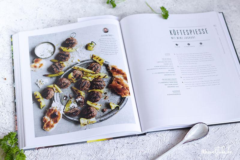 Köfte-Spieße aus dem Ankerkraut Kochbuch mit meinestube