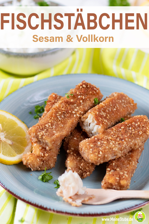 Fischstäbchen mit Sesam und Vollkorn von meinesstube