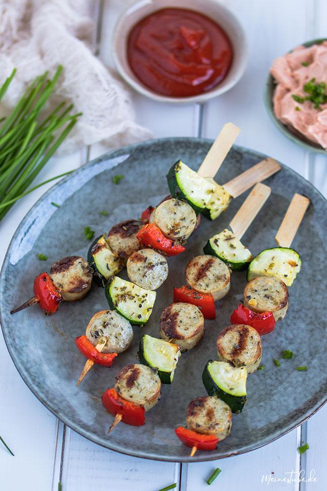 Grillspieße mit Gemüse von meinestube