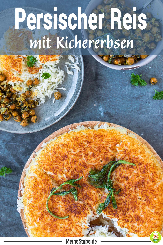 Rezept persischer Reis mit Kichererbsen mit meinesstube