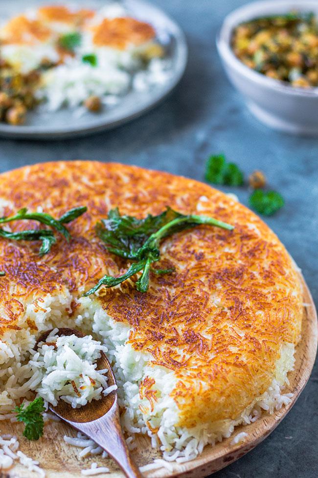 Persischer-Reis Tahdig mit knuspriger Kruste von meinestube