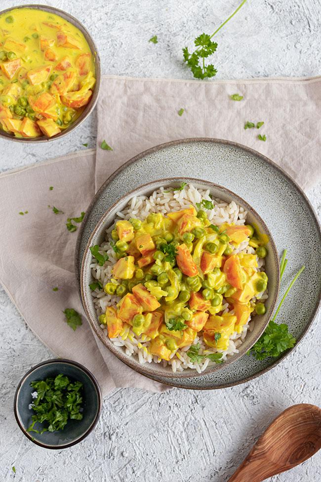 Reisgericht mit Gemüse von meinestube