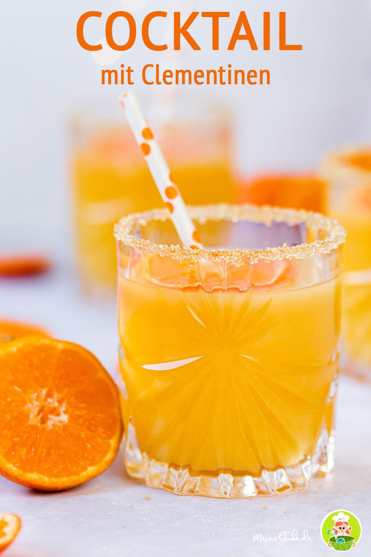 Clementinen-Cocktails mit Strohhalm, meinestube
