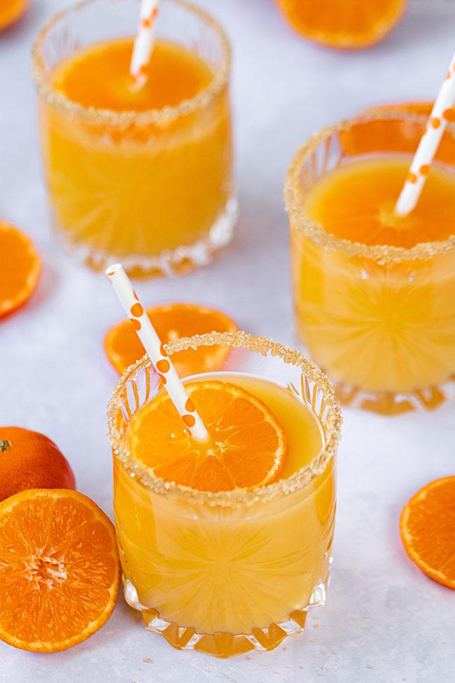 Winter-Cocktails mit Mandarinen und Clementinen mit Meinestube