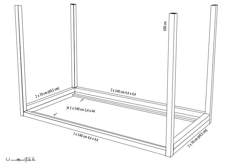 Skizze vom Hausbett bauen von meinestube