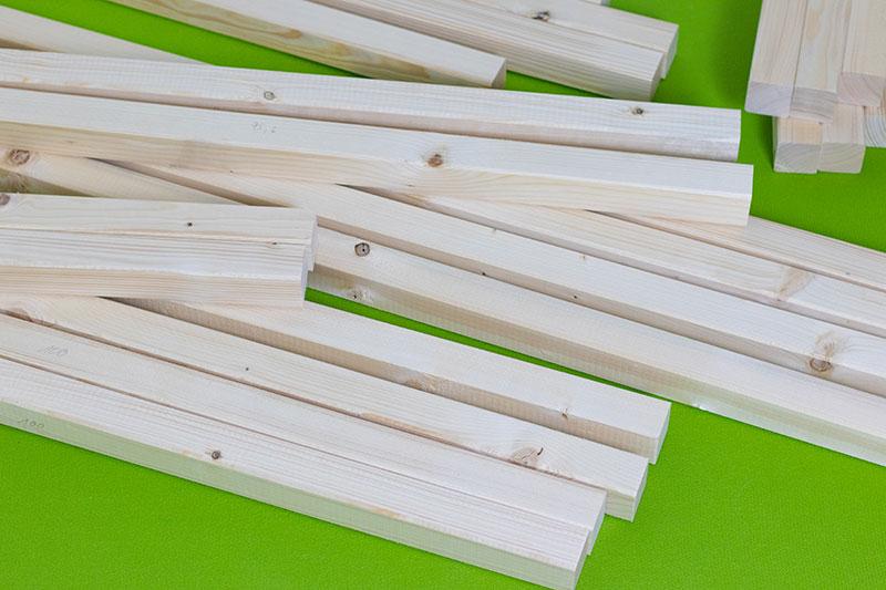 Rahmenholz zugeschnitten für Kinder Hausbett von meinestube