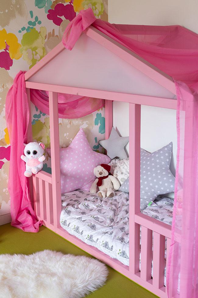 Hausbett bauen für Kinder Mädchen von meinestube