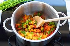 Gemüse anbraten mit meinestube