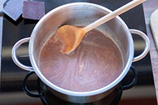 Schokoladenstreusel schmelzen, meinestube
