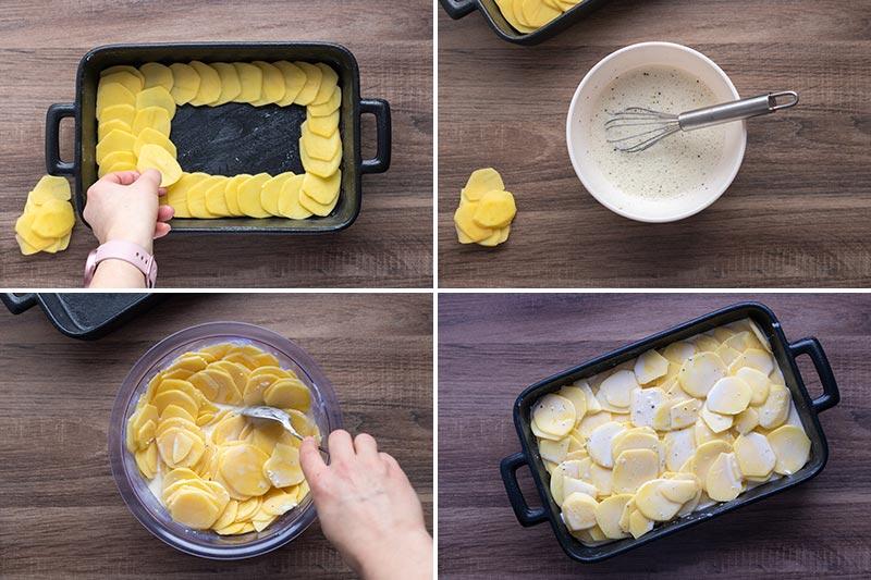 Kartoffelgratin mit Frischkäse Zubereitungsart, meinestube