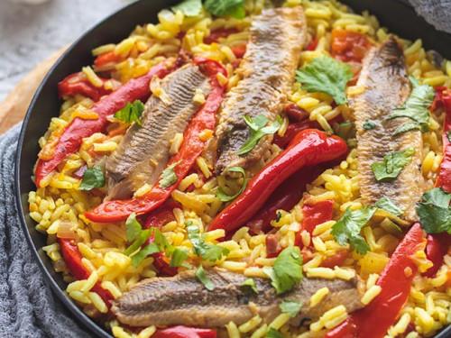 Sardinen-Reis in der Pfanne, meinestube