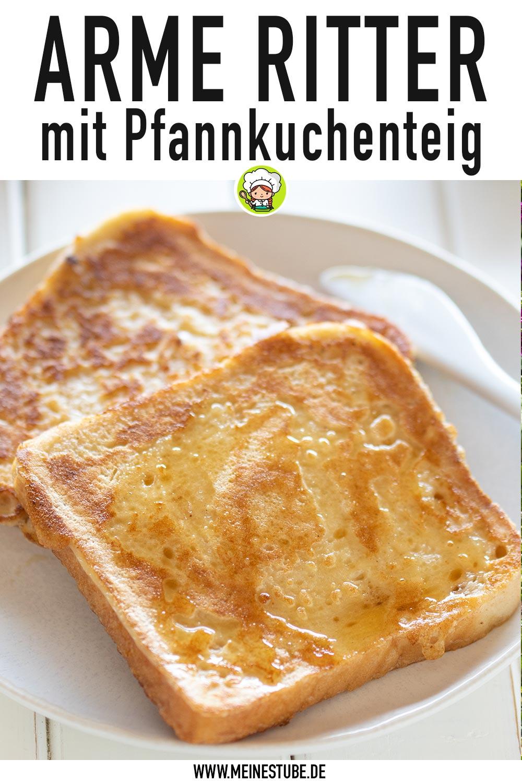 Gebackener Toast mit Pfannkuchenteig, meinestube