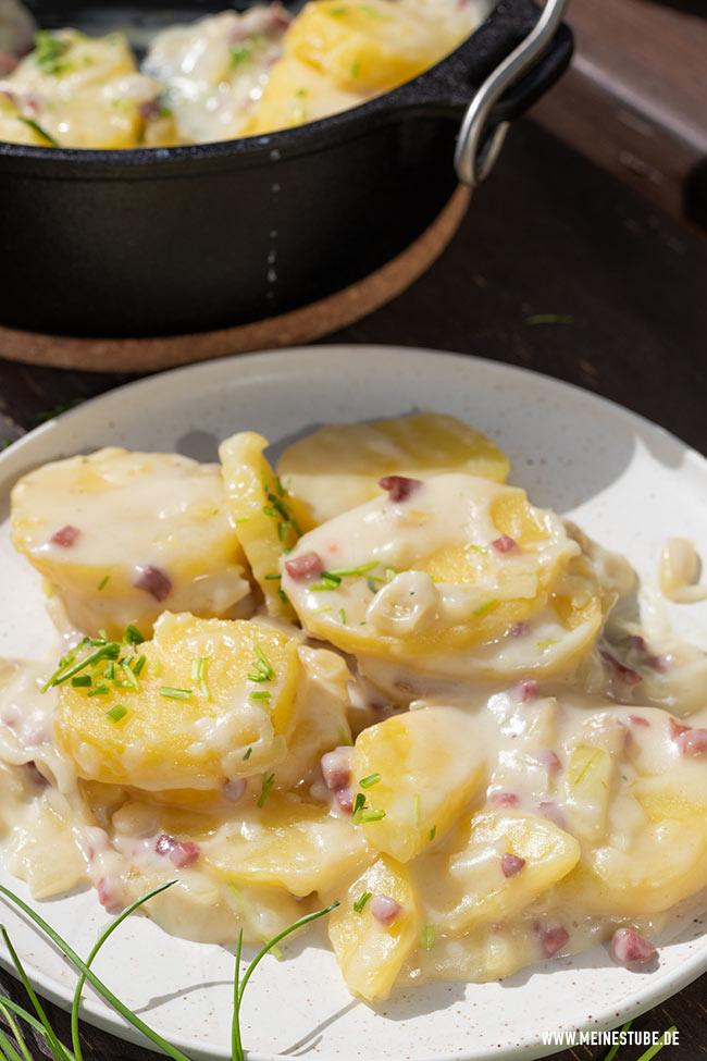 Béchamelkartoffeln als Grillbeilage, meinestube